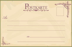 Blank vintage postcard Royalty Free Stock Photography