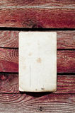 Blank vintage postcard on wood wall Stock Photography