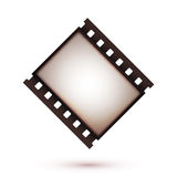 Blank vintage retro old film strip icon. Background. Vector illustration Royalty Free Stock Images