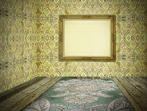 Blank vintage room interior Stock Photography