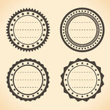 Blank vintage round labels Royalty Free Stock Image
