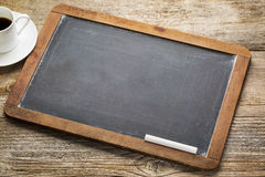 Blank vintage slate blackboard Stock Photography