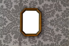Blank vintage wooden picture Stock Photography