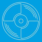 Blank vinyl record icon, outline style Stock Photography