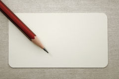 Blank visit card with pencil Royalty Free Stock Photos