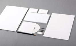 Blank visual identity. Letterhead, business cards, envelopes, CD Royalty Free Stock Photography