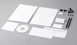 Blank visual identity. Letterhead, business cards, envelopes, fo Stock Photos