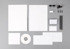 Blank visual identity. Letterhead, business cards, envelopes, fo Royalty Free Stock Photo