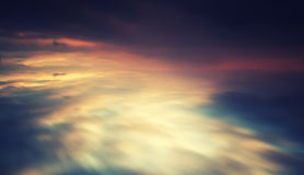 Blank vivid cross processed cloudscape Royalty Free Stock Photo