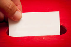 Blank vote card Stock Photo