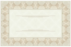 Blank voucher. Empty blank of the certificate or voucher Stock Images