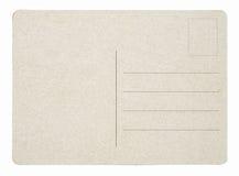 blank vykort Arkivfoto