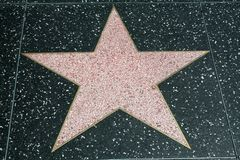 Blank Walk of Fame Star Royalty Free Stock Photography