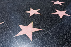Blank Walk of Fame Stars Royalty Free Stock Images