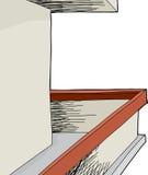 Blank Wall Balcony Stock Photo