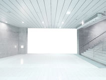 Blank wall in basement Stock Photo