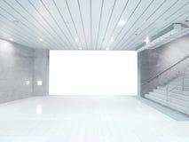 Blank wall in basement Stock Photo