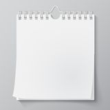 Blank wall calendar with spring Royalty Free Stock Photography