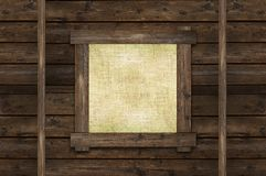 Blank Wall Canvas Frame Royalty Free Stock Photos