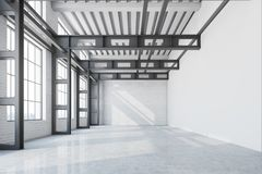 Free Blank Wall Factory Office Interior, Front View Royalty Free Stock Photography - 109525907