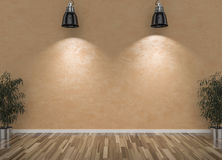 Blank wall and lamps Stock Photos