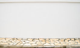 Blank wall and sidewalk Royalty Free Stock Image