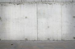 Blank wall and sidewalk Royalty Free Stock Photo