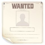 Blank Wanted Poster Vector Royalty Free Stock Images