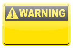 Blank warning lable Stock Image