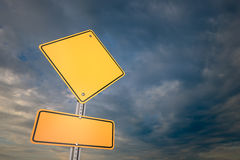 Blank warning road sign Royalty Free Stock Photography
