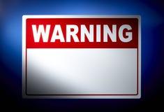 Blank Warning sign Stock Image