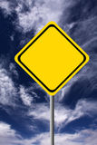 Blank warning sign Royalty Free Stock Images