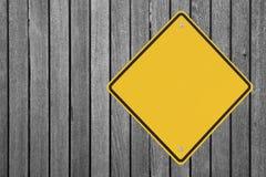 Blank Warning Sign Stock Photography