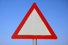 Blank Warning Sign. Royalty Free Stock Image