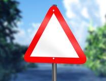 Blank warning sign Stock Photos