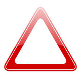 Blank warning sign Royalty Free Stock Photos