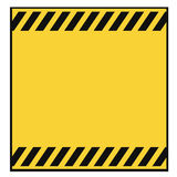 Blank Warning Template Stock Images