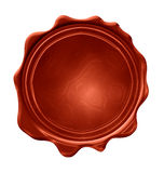 Blank wax seal Stock Image