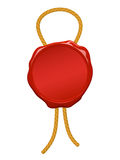 blank wax seal with string Royalty Free Stock Photo