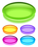 Blank web button. Oval glass web buttons on white background vector illustration