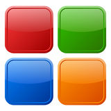 Blank web button Stock Images
