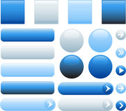 Blank web buttons. Glossy vector illustration