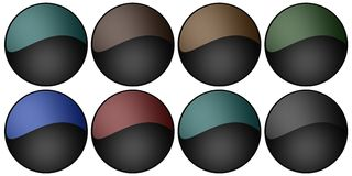Blank web buttons. Suitable for the web page Royalty Free Stock Photos