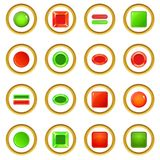 Blank web buttons icons circle Stock Images