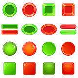 Blank web buttons icons set, cartoon style Stock Photos