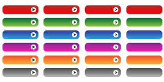 Blank web buttons set Royalty Free Stock Photography