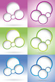 Blank web design bubble Royalty Free Stock Images