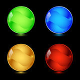 Blank web knobka. Four colorful blank buttons for web design Stock Photo