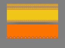 Blank website header or banner set. vector illustration