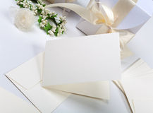 Blank wedding invitation Royalty Free Stock Photography
